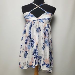 Free People Women's Top Floral Size SP